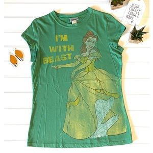 Disney Vintage Style Funny Belle Graphic Tee, XL